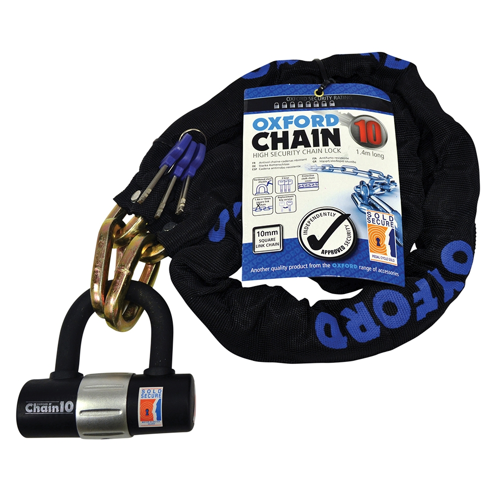 OXFORD Chain 10 Chain Lock & Mini Shackle