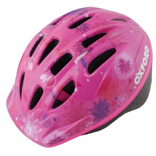 OXFORD Poppet Pink Flower Kids Helmet